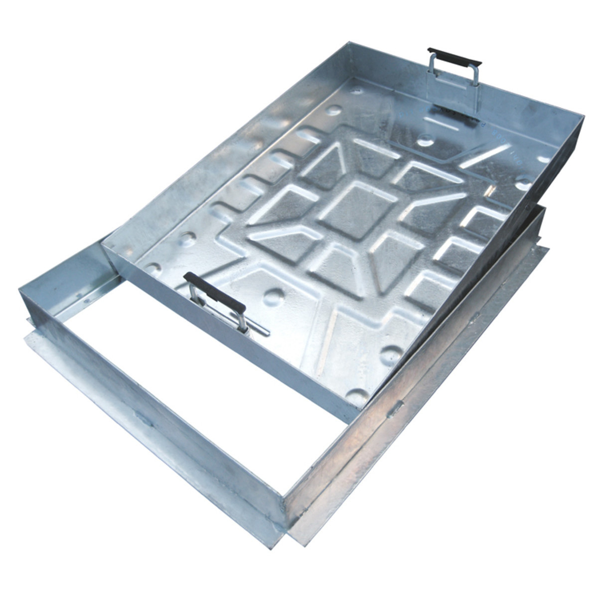 300 x 300mm Recessed Block Paver Cover (suit 60mm paving) - All Steel