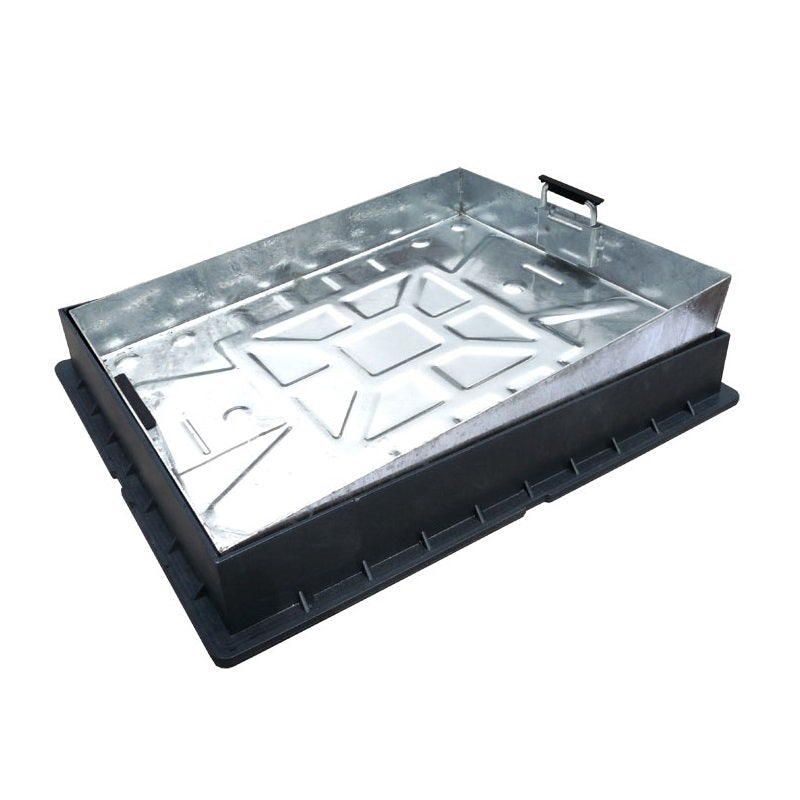 600 x 450mm Recessed Block Paver Cover (suit 60mm paving) - Galv Tray / Plastic Frame