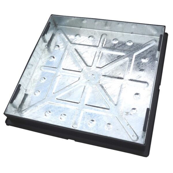600 x 600mm Recessed Block Paver Cover (suit 60mm paving) - Galv Tray / Plastic Frame