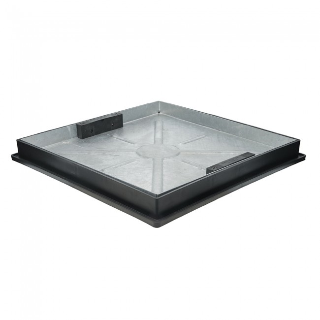 450 x 450mm Double Seal Recessed Screed Infill Galv Cover & Plastic Frame