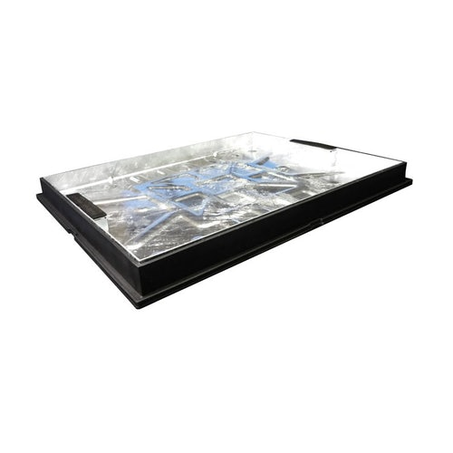 600 x 600mm Double Seal Recessed Screed Infill Galv Cover & Plastic Frame