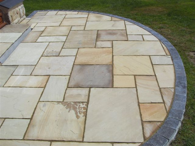 Fossil Buff Sandstone Patio Pack (H/C Tumbled) (19.26m2)