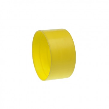 54mm Grey BT Duct End Caps Yellow