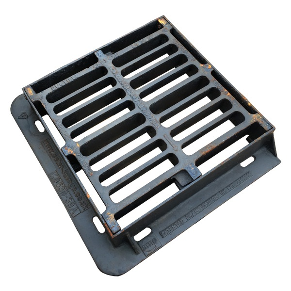 450 x 450 x 150mm Deep - Gully Grate and Frame, F900, Kitemarked, in Ductile Iron