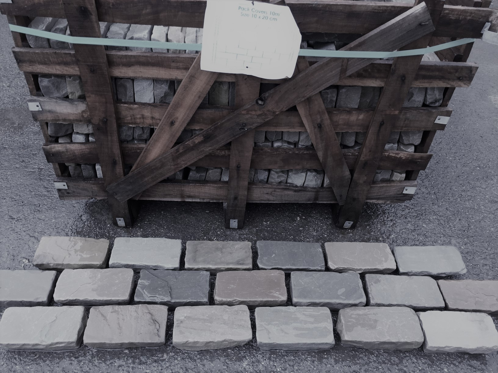 Kandla Grey Cobbles 200 x 100 (40-60mm H/C Tumbled) (9m2)