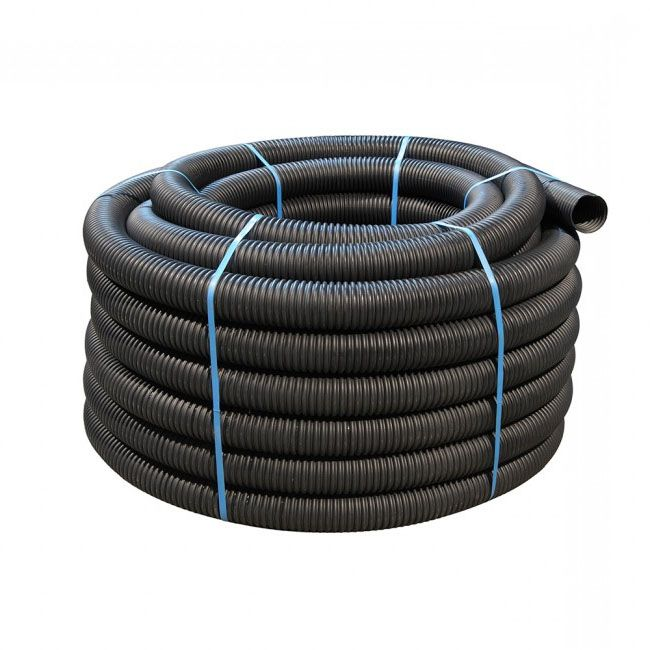 100mm Dia x 100mtr Black Perforated Land Drain