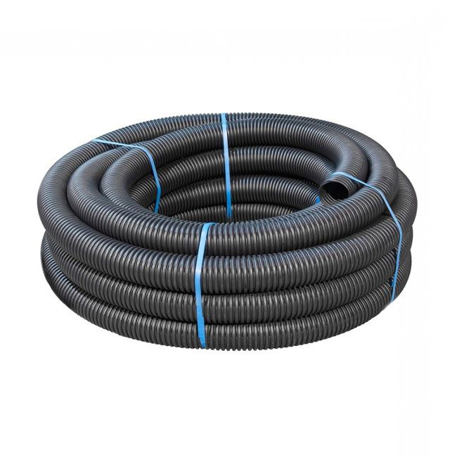 100mm Dia x 25mtr Black Perforated Land Drain