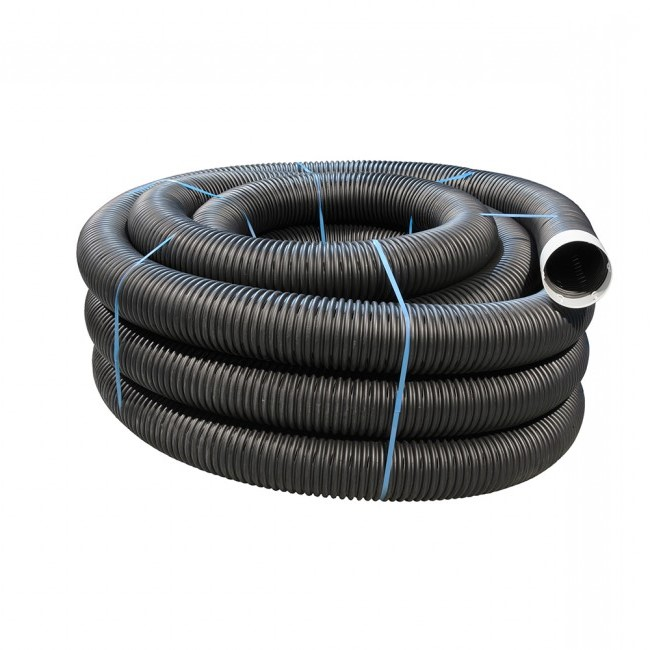 160mm Dia x 35mtr Black Perforated Land Drain