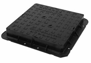 675 x 675 x 100mm Manhole Cover + Frame, D400, Ductile Iron