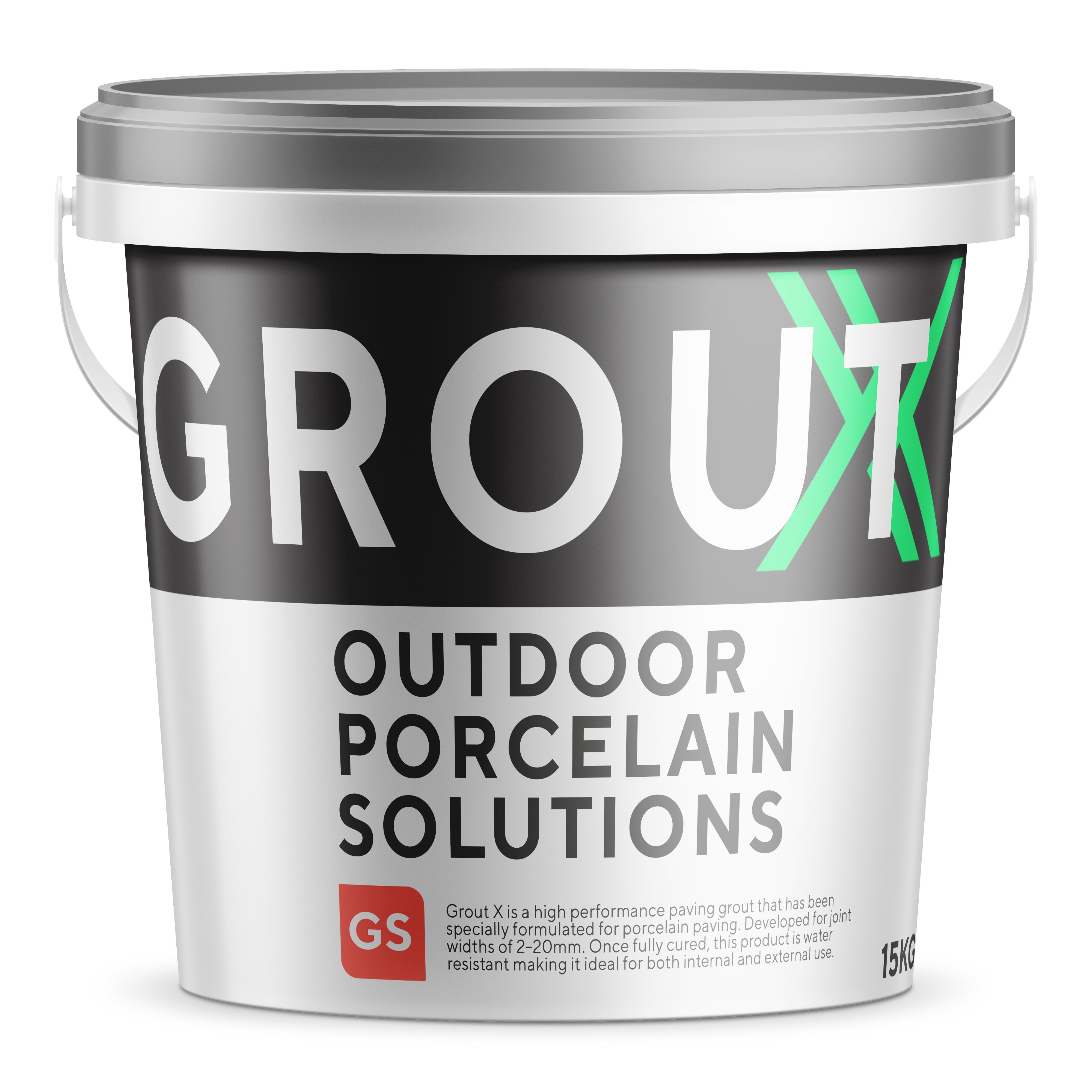 Grout X - Mid Grey Porcelain Paving Grout - 15kg