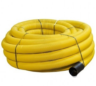 100mm Dia x 50mtr Yellow Perforated Gas Duct