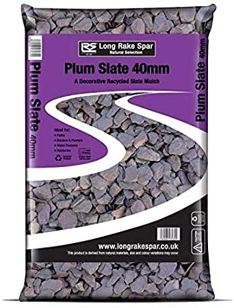 25kg Plum Slate Chippings