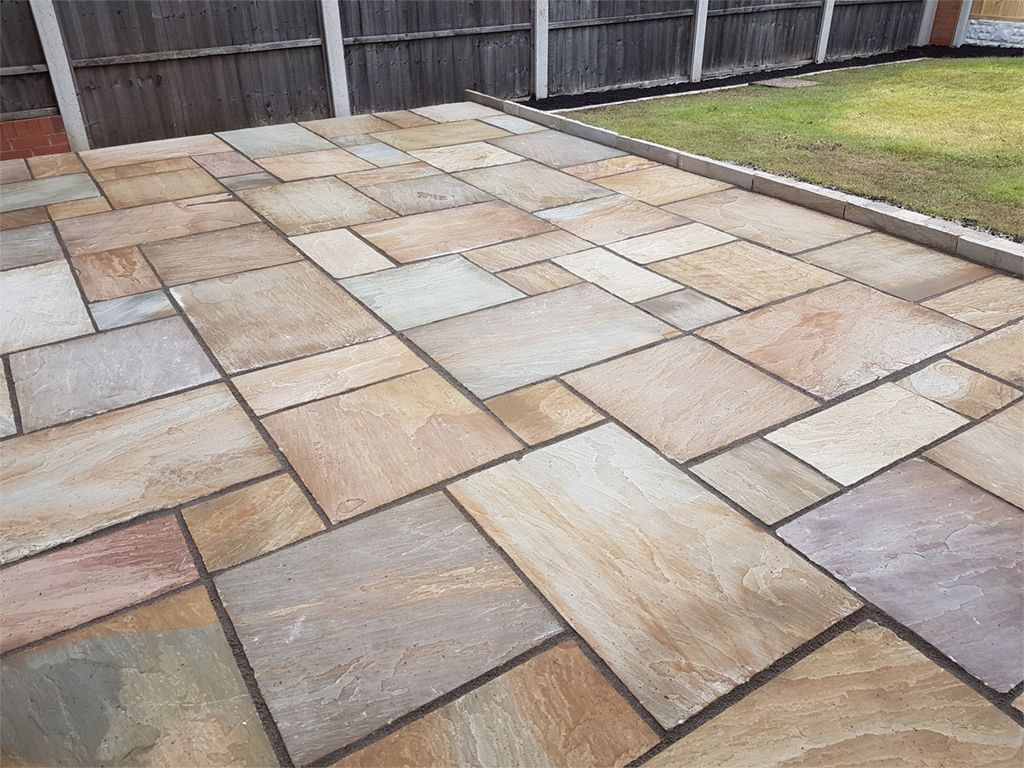 Rippon Natural Sandstone Patio Pack (H/C Natural) (19.26m2)