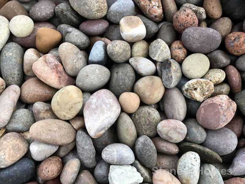 25kg Scottish Beach Pebbles 30-50mm