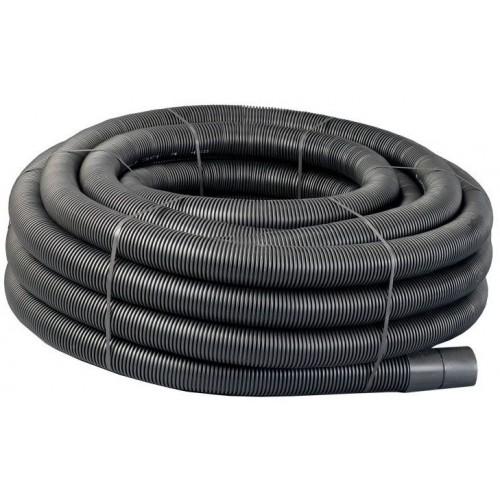 110mm x 50m Black Twinwall Duct c/w draw cord