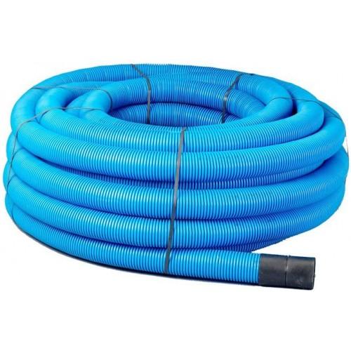 110mm x 50m Blue Twinwall Duct c/w draw cord