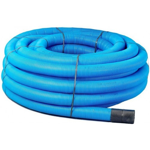 63mm x 50m Blue Twinwall Duct c/w draw cord