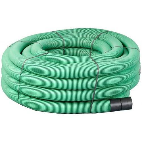 63mm x 50m Green Twinwall Duct c/w draw cord