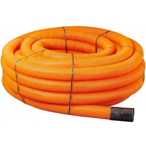 63mm x 50m Orange Twinwall Duct c/w draw cord