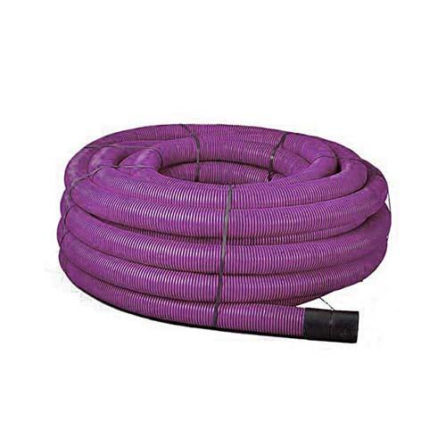 63mm x 50m Purple Twinwall Duct c/w draw cord