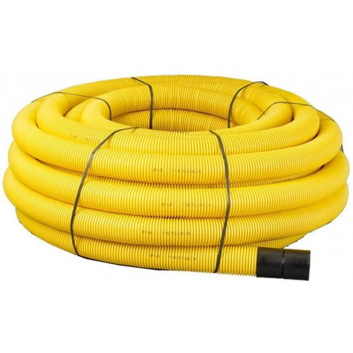 63mm x 50m Yellow Twinwall Duct c/w draw cord