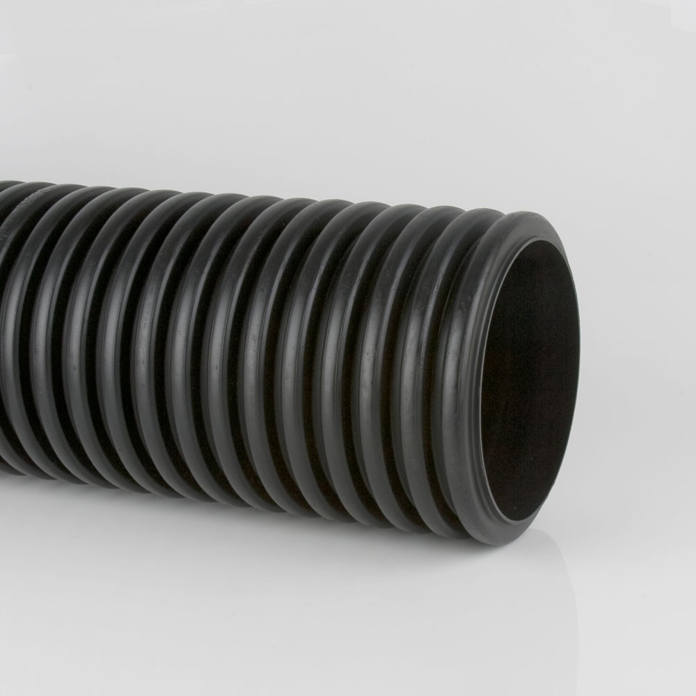 300mm x 6m Twinwall Solid Pipe Plain Ended (8 pack)