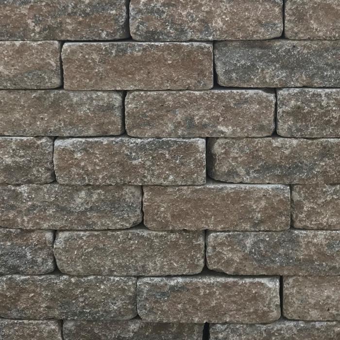 Calder Brown Mix Stone Walling 200 x 65 x 100mm (64 per m2) (4.5m2 per pack) 3.2kg each 288 per pack (910kg per pack)