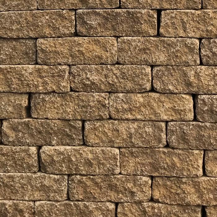 Mellow Yellow Stone Walling 200 x 65 x 100mm (64 per m2) (4.5m2 per pack) 3.2kg each 288 per pack (910kg per pack)
