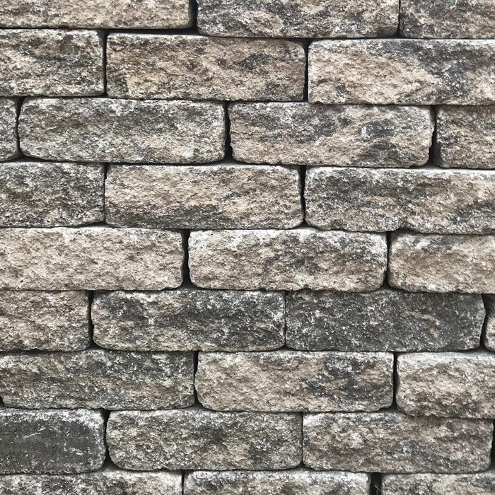 Quarry Grey Stone Walling 200 x 65 x 100mm (64 per m2) (4.5m2 per pack) (3.2kg each) (288 per pack) (921.60kg per pack)