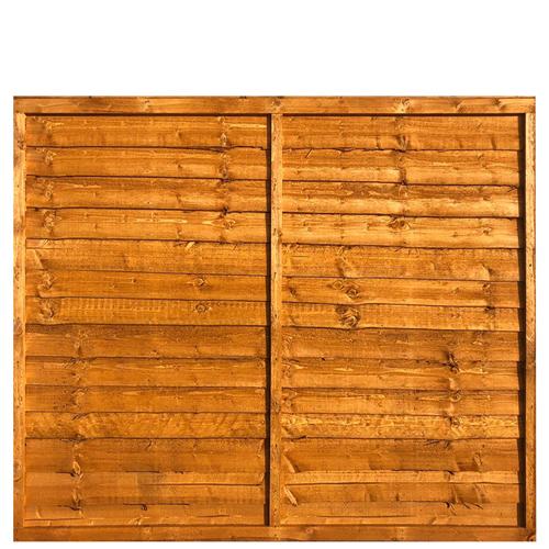 Waney Lap Fence Panel 6x5