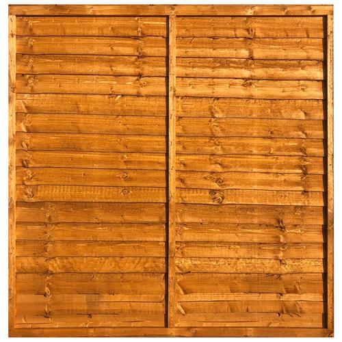 Waney Lap Fence Panel 6x6