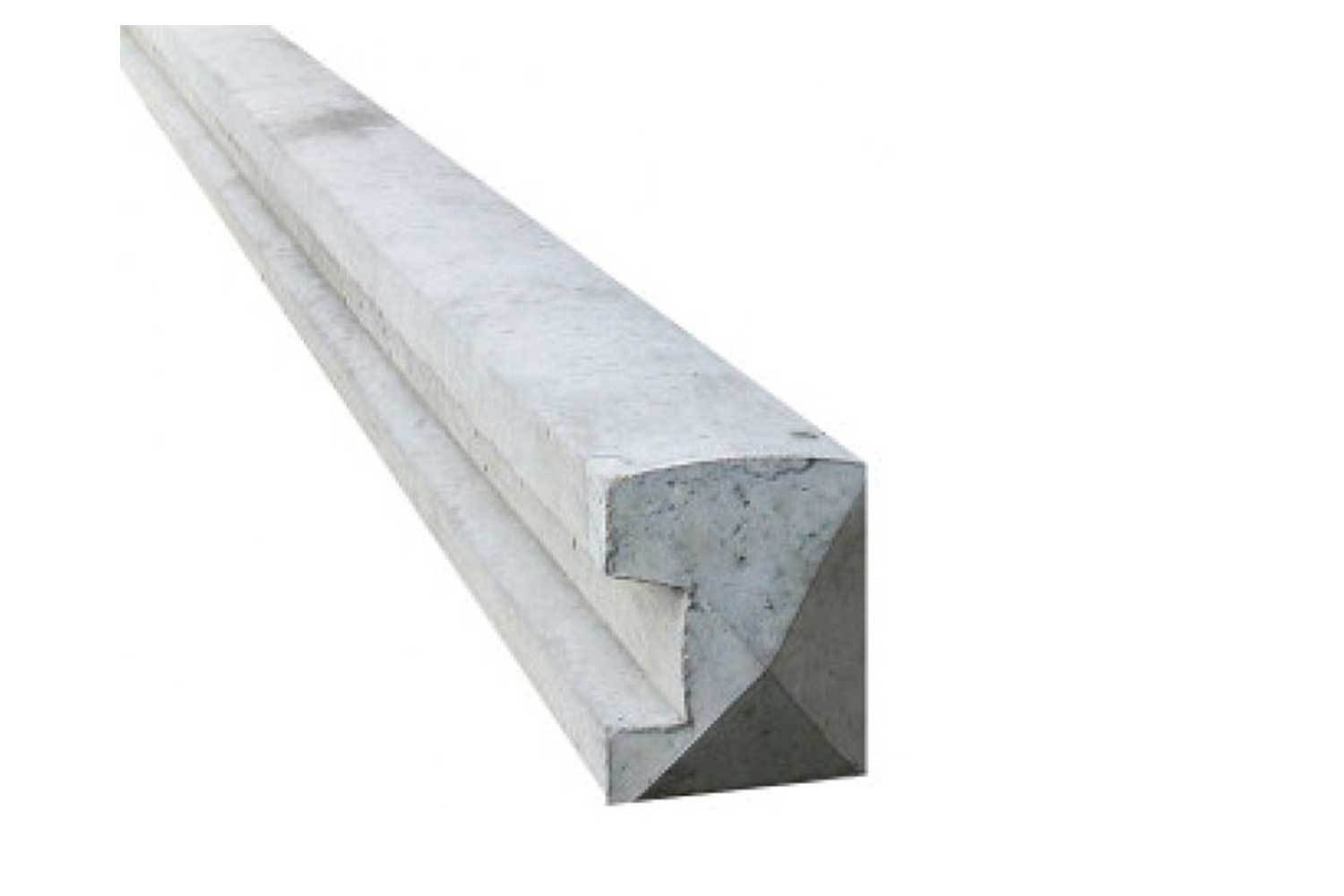 Wet Cast Slotted End Post 5 x 4 x 6ft